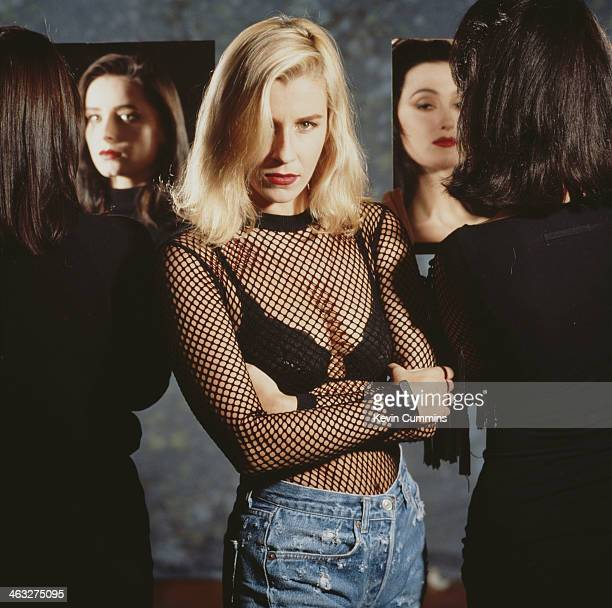 British female pop group Bananarama circa 1990 Left to right Keren Woodward Sara Dallin and Jacquie O'Sullivan