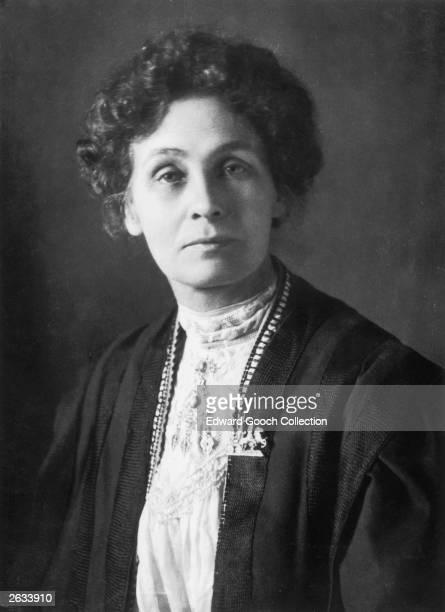 British feminist and leader of the suffrage movement Emmeline Pankhurst