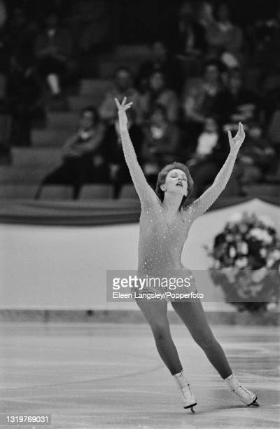British figure skater Karen Wood competes for Great Britain in the Ladies singles event at the Ennia International Challenge Cup in The Hague,...