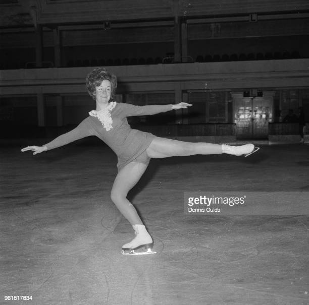 British figure skater SallyAnne Stapleford trains at the Richmond Ice Rink for that evening's Free Skating section of the British Figure Skating...