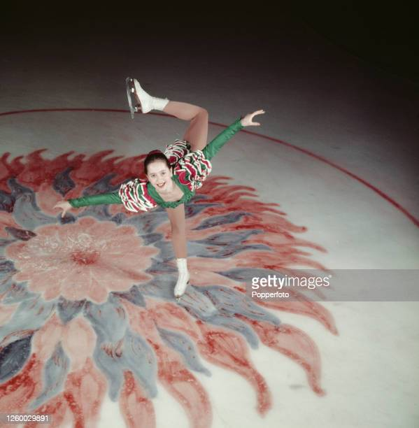 British figure skater Yvonne Sugden in action on the ice at Streatham rink in London in January 1955 Yvonne Sugden is currently British national...