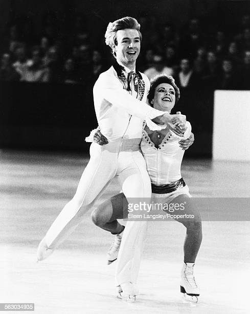 British figure skaters Jayne Torvill and Christopher Dean performing their Barnum ice dancing routine at Richmond ice rink London February 2nd 1983