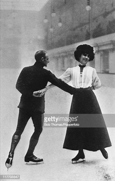 British figure skaters Phyllis Johnson and James H Johnson who won the silver medal in the pairs event at the 1908 Summer Olympics in London