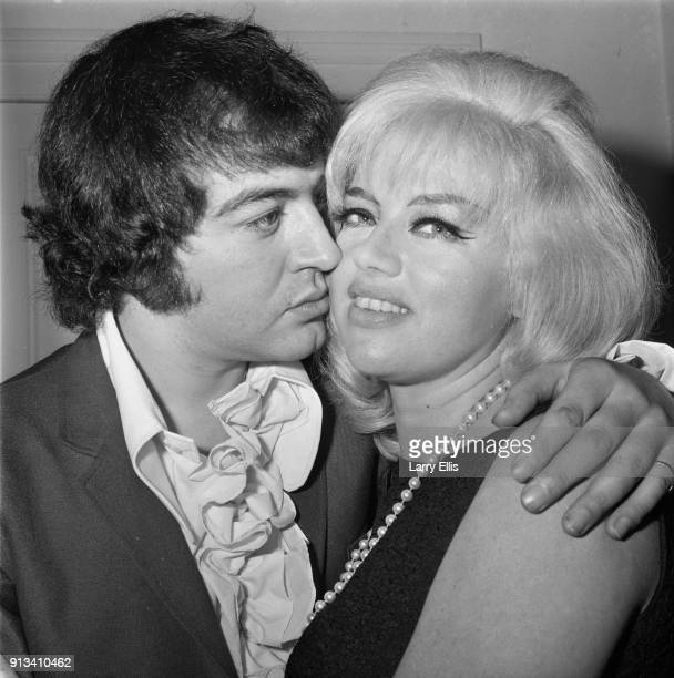 British film actress and singer Diana Dors with her fiance British actor Alan Lake UK 28th October 1968