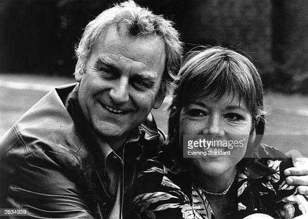 British film and television actor John Thaw known best for his roles in 'The Sweeney' and 'Inspector Morse' with British actress Diana Rigg Original...