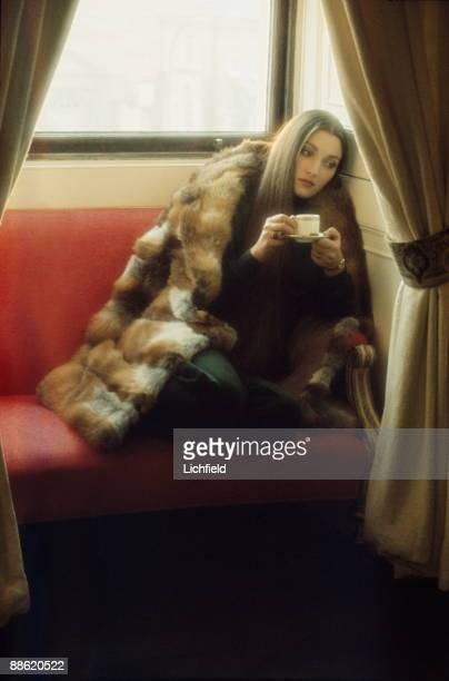 British film and television actress Jane Seymour photographed on 28th November 1973