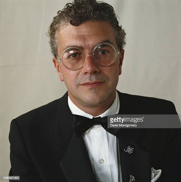 British film and theatre producer Michael White attends a performance of 'The Pirates of Penzance' at the Theatre Royal in London July 1982 He is...