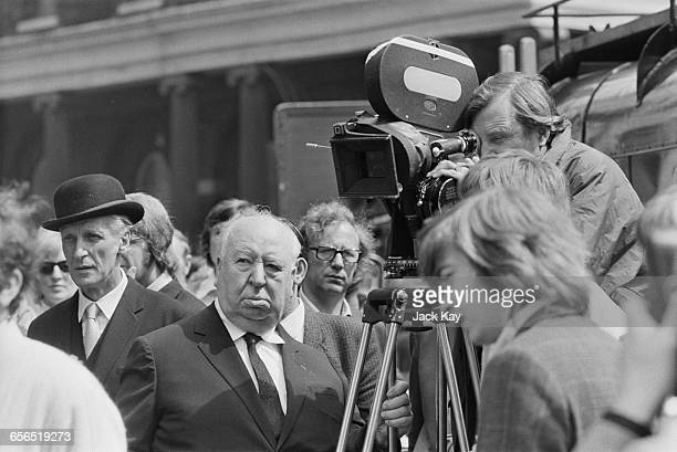 British film director Alfred Hitchcock in Covent Garden London to direct the film 'Frenzy' London UK 26th July 1971