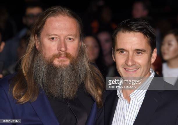 British film director David Mackenzie and British actor Alastair Mackenzie pose upon arrival for the European premiere of the film 'Outlaw King'...