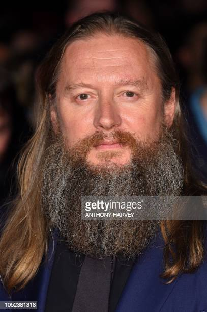 British film director David Mackenzie poses upon arrival for the European premiere of the film 'Outlaw King' during the BFI London Film Festival in...