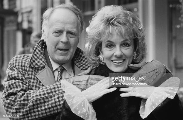 British film maker Desmond Wilcox and his wife broadcaster Esther Rantzen posed in London on 19th February 1986