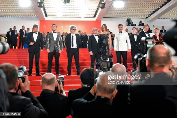 British film producer Adam Bohling, British actor Taron Egerton, British director Dexter Fletcher, British songwriter Bernie Taupin, his partner...