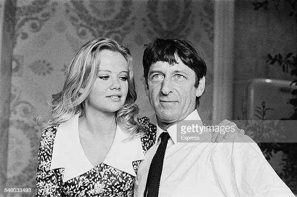 British film producer and director Roy Boulting with his fiancé English actress Hayley Mills 1967