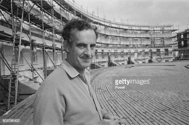 British film production designer and art director John Box on the set of musical drama film 'Oliver' at Shepperton Studios UK 27th April 1968