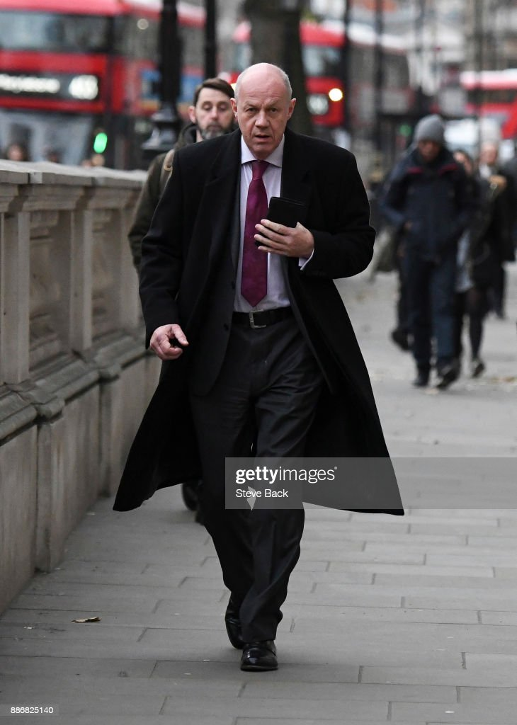 British First Secretary of State and Minister for the Cabinet Office Damian Green arriving for work at Downing Street on December 6, 2017 in London, England.