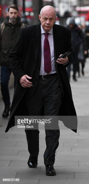 British First Secretary of State and Minister for the Cabinet Office Damian Green arriving for work at Downing Street on December 6 2017 in London...