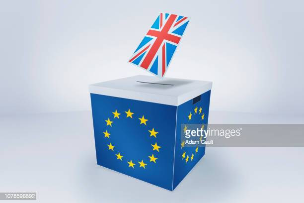 British Flag at EU Ballot Box