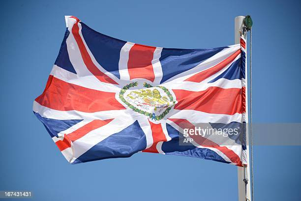 British flag flies near the newly opened British Embassy in Mogadishu on April 25, 2013. British Foreign Secretary William Hague opened a new embassy...