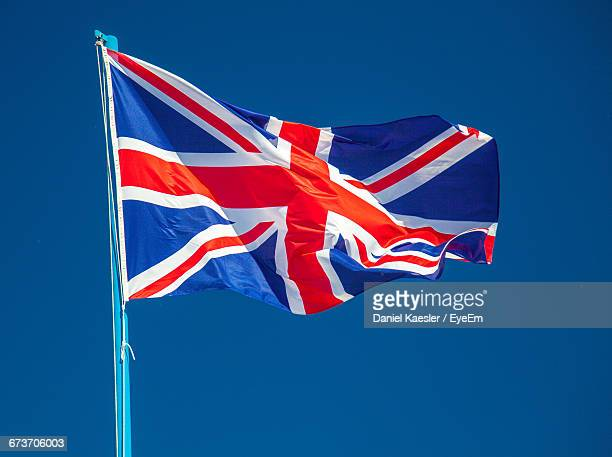 British Flag Waving Against Clear Sky