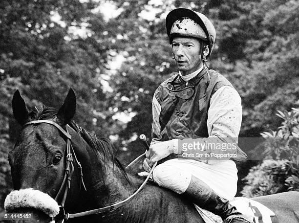 British flat racing jockey Lester Piggott at Sandown Park circa June 1972