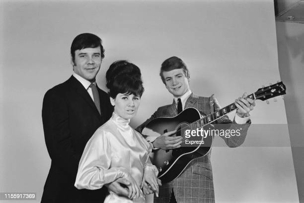 British folk pop trio The Wilde Three UK 7th April 1965 they are Marty Wilde Joyce Baker and Justin Hayward
