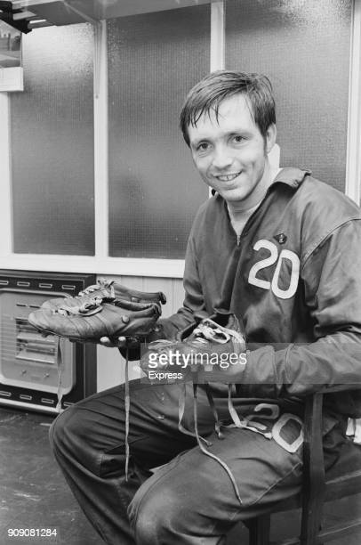 british football player Jeff Astle of West Bromwich Albion FC UK 15th October 1968