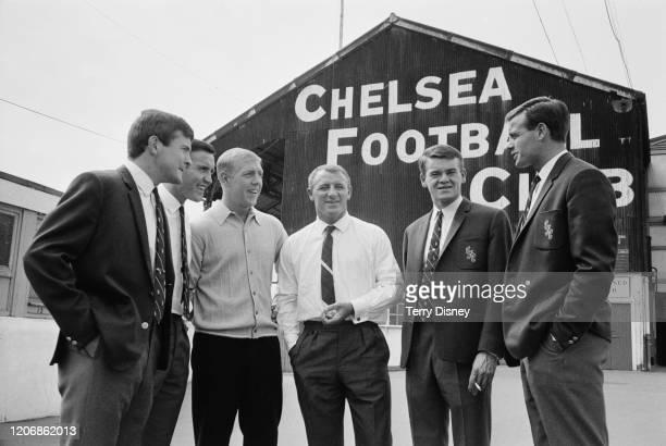 British footballer Bert Murray, British footballer John Hollins, British footballer Ken Shellito , British football manager Tommy Docherty, British...