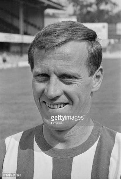 British footballer George O'Brien poses for his Southampton FC player portrait at the club's The Dell ground in Southampton England 17th August 1965