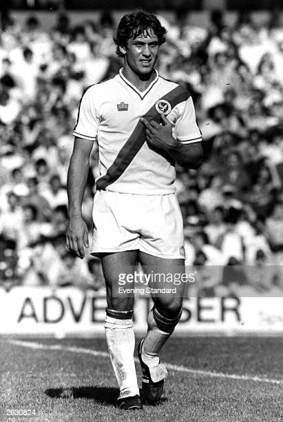 British footballer Kenny Sansom playing for Crystal Palace