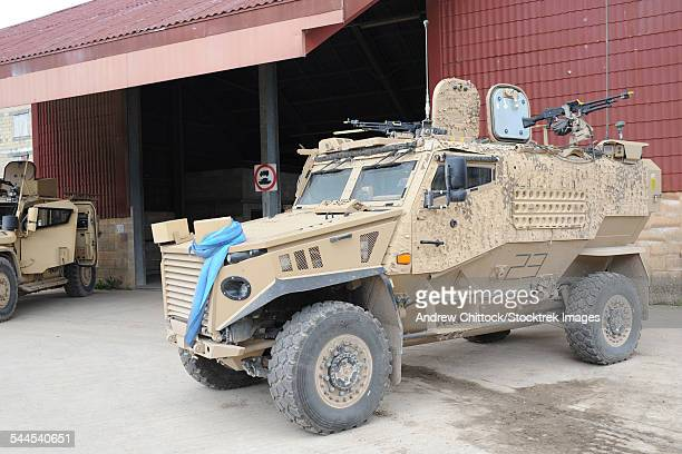 a british force protection ocelot armored patrol vehicle, known as the foxhound. - mine resistant ambush protected stock pictures, royalty-free photos & images