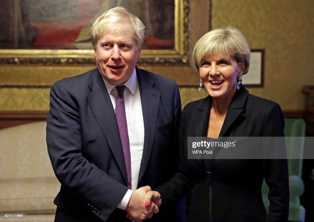 British Foreign Minister Meets His Australian Counterpart