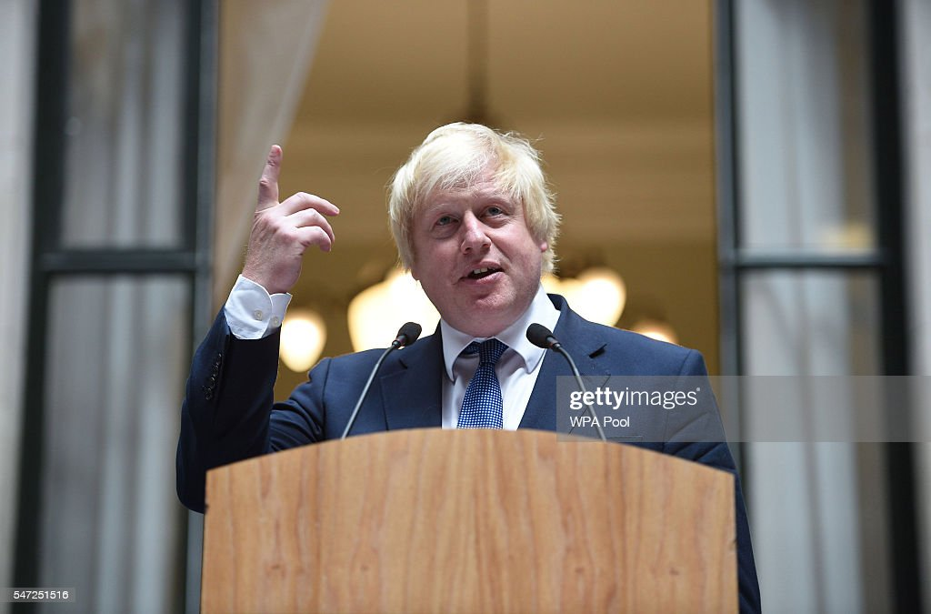 Boris Johnson's First Day As Foreign Secretary