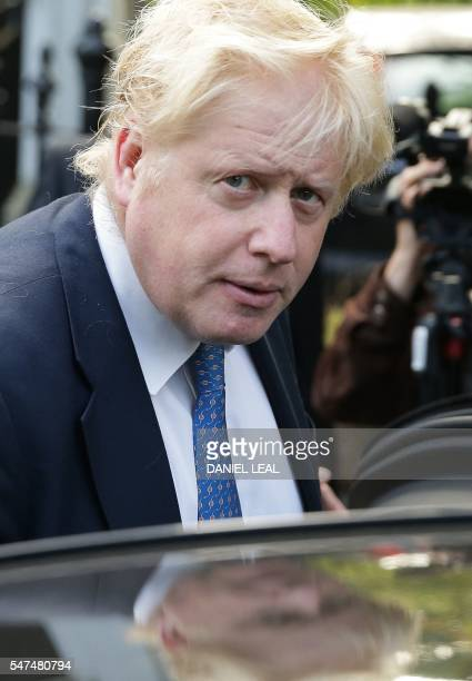 British Foreign Secretary Boris Johnson leaves his home in London on July 15 2016 / AFP / DANIEL LEALOLIVAS