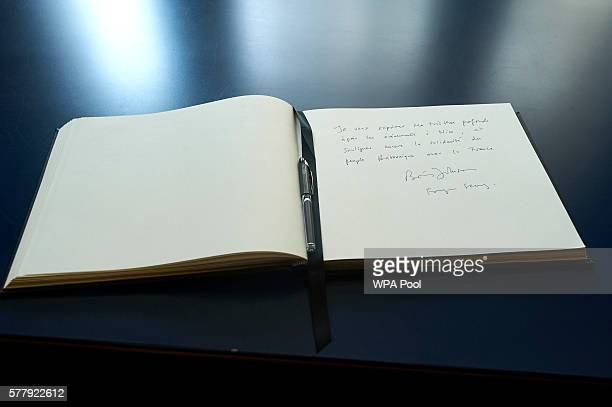 British Foreign Secretary Boris Johnson signed a book of condolence at the French embassy to commemorate the victims of the attack in Nice that...
