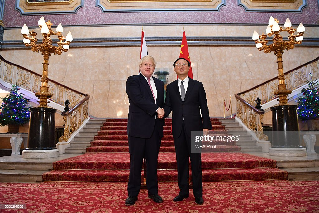Boris Johnson Welcomes Chinese State Councillor Yang Jiechi