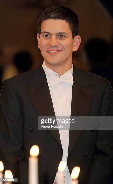 British foreign secretary David Miliband attends a State Banquet at Brdo Castle on the first day of a State Visit to Slovenia on October 21 2008 in...
