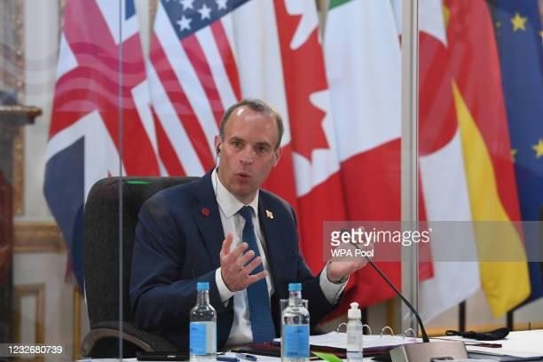 British Foreign Secretary Dominic Raab, addresses, the European High Representative of the Union for Foreign Affairs, Josep Borrell, US Secretary of...