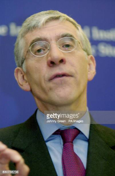 British Foreign Secretary Jack Straw addresses an audience at the International Institute for Strategic Studies in central London Straw spoke of the...