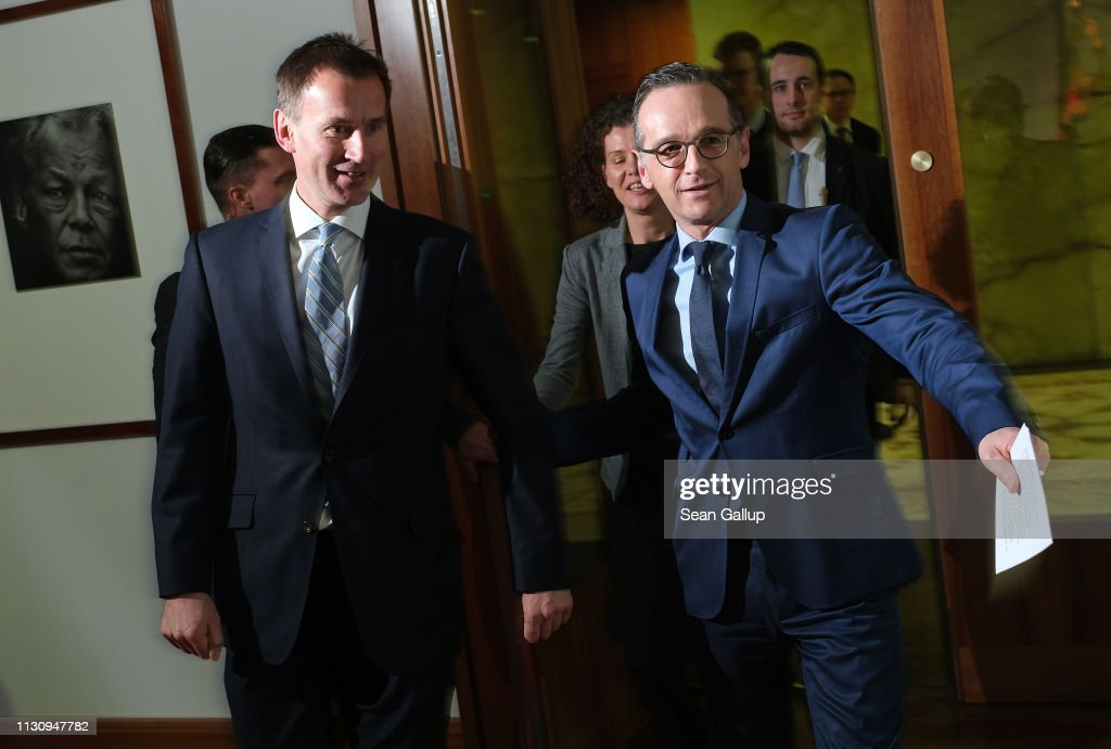 DEU: British Foreign Secretary Hunt In Berlin As Brexit Deadline Looms