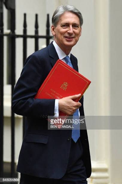 British Foreign Secretary Philip Hammond arrives to attend a cabinet meeting in central London on July 5 2016 In a move that sent world financial...