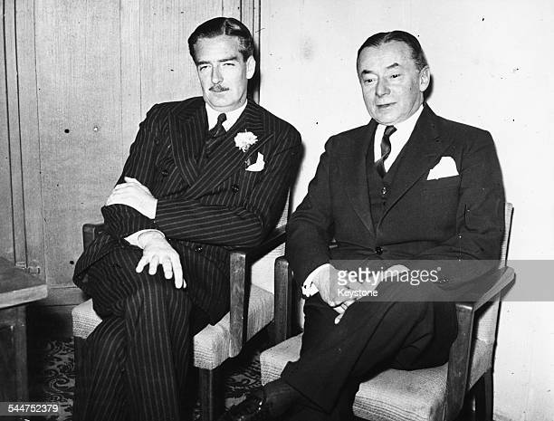 British Foreign Secretary Sir Anthony Eden and French Prime Minister Paul Reynaud 1940