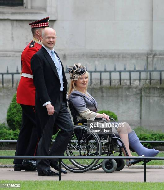 British Foreign Secretary William Hague and wife Ffion Hague arrives to attend the Royal Wedding of Prince William to Catherine Middleton at...