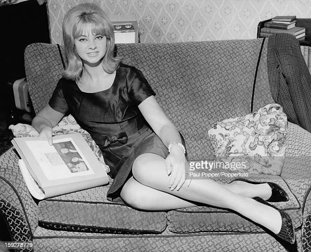 British former model and showgirl Mandy RiceDavies at her home in Birmingham 18th June 1963 RiceDavies has been bound over to appear as a witness in...