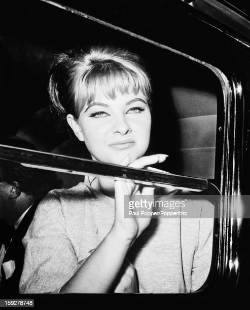 British former model and showgirl Mandy RiceDavies in London during the trial of Stephen Ward at the Old Bailey 22nd July 1963 RiceDavies is a...