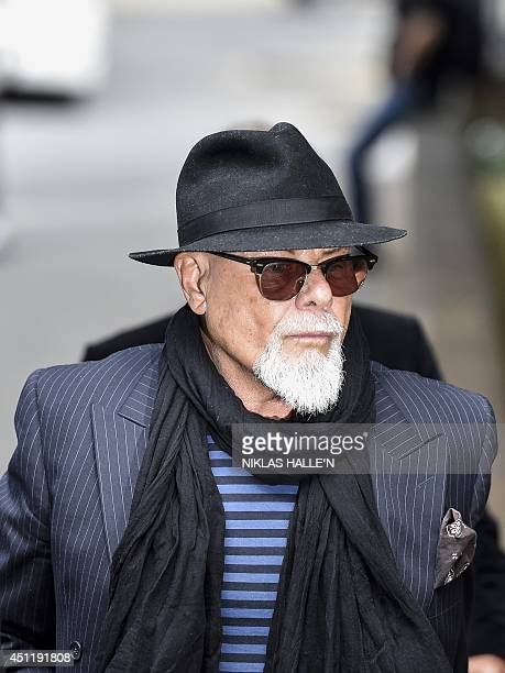 British former pop star Gary Glitter whose real name is Paul Gadd aka arrives at Southwark Crown Court in London on June 25 2014 Gadd arrived at the...