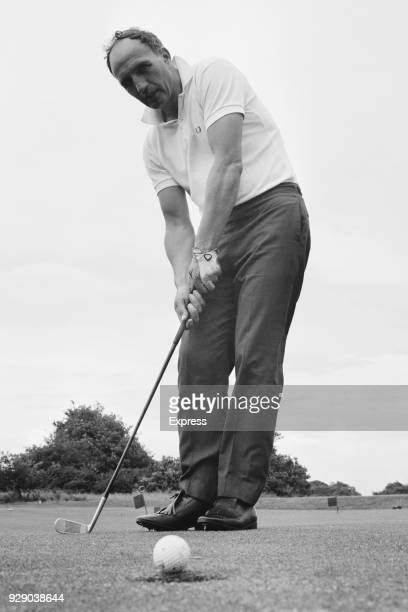 British former soccer player and manager of Ipswich Town FC Bill McGarry plays golf, UK, 21st June 1968.
