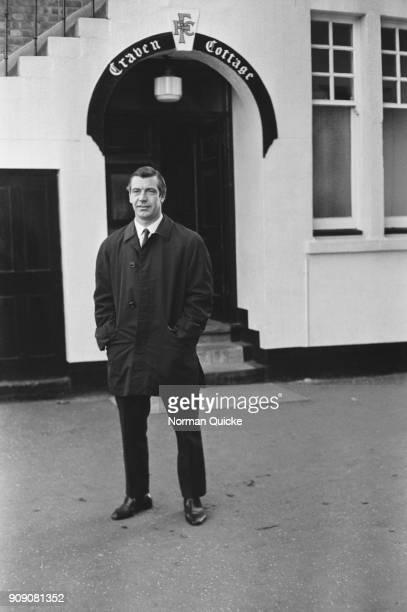 British former soccer player and new manager of Fulahm FC Johnny Haynes outside Craven Cottage London UK 22nd November 1968