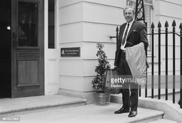 British former soccer player and Scotland manager arrives at the Fitzroy Nuffield Nursing Home, London, UK, 26th July 1968.