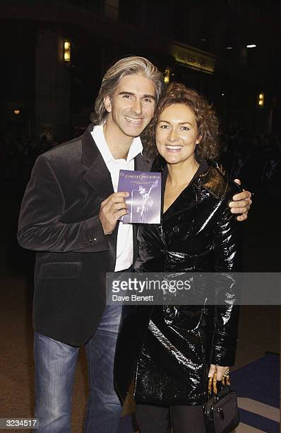 British Formula One driver Damon Hill and wife arrive at the screening of the Royal Albert Hall Concert in memory of the late George Harrison...