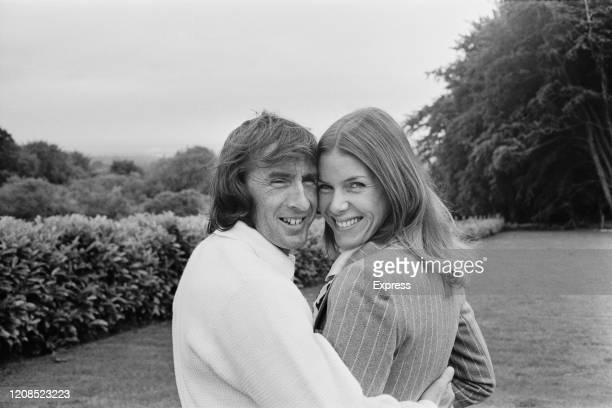 British Formula One racing driver Jackie Stewart and his wife Helen Stewart at the Tyrrell base in Ockham Surrey England 25th June 1972